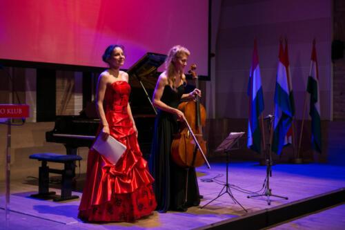 Diāna Zandberga and Ágnes Kállay (cello)